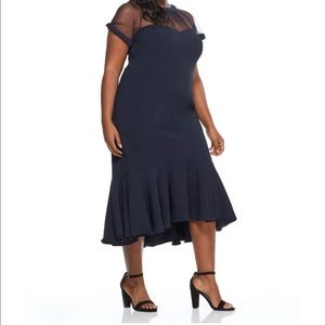 Maggy London Alesia fit and flare plus size dress